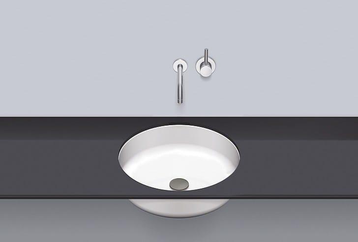 Undermount basin from glazed steel UB.SO450.2 by Alape