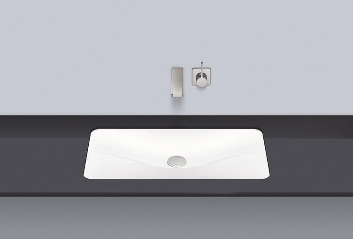 Undermount basin from glazed steel UB.TA700 by Alape