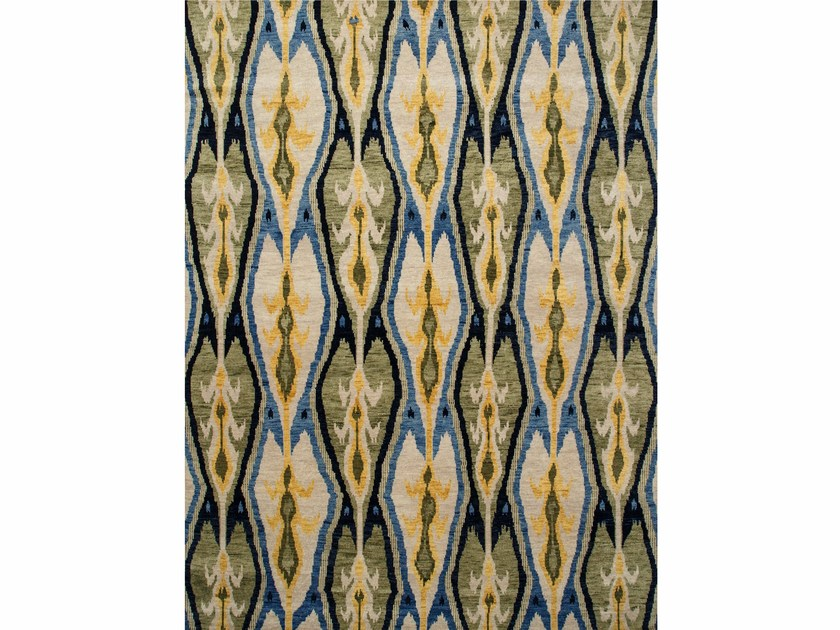 Patterned rug UBUD LCA-07 Navy/Cloud White by Jaipur Rugs