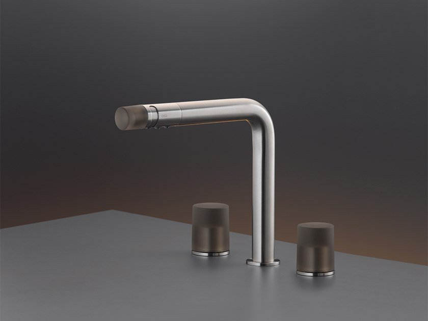 Three-hole mixer with spout UDT 16 by Ceadesign