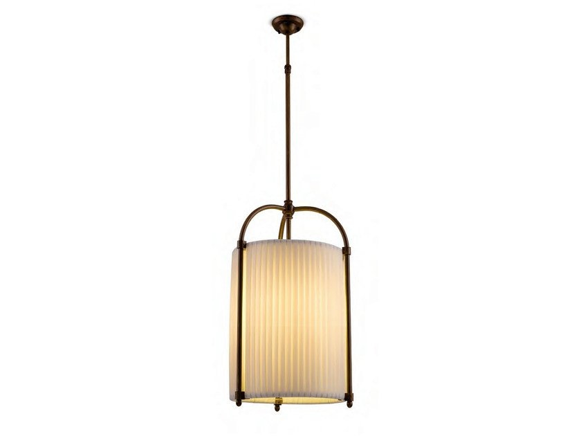 Indirect light fabric pendant lamp UKULELE by Aldo Bernardi