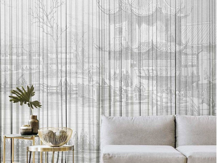 Oriental wallpaper, eco-friendly, PVC free and washable UKYO by Wallpepper Group