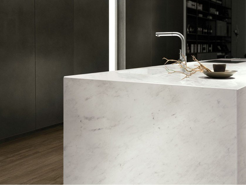 Porcelain stoneware wall/floor tiles with marble effect ULTRA MARMI - BIANCO CARRARA by ARIOSTEA