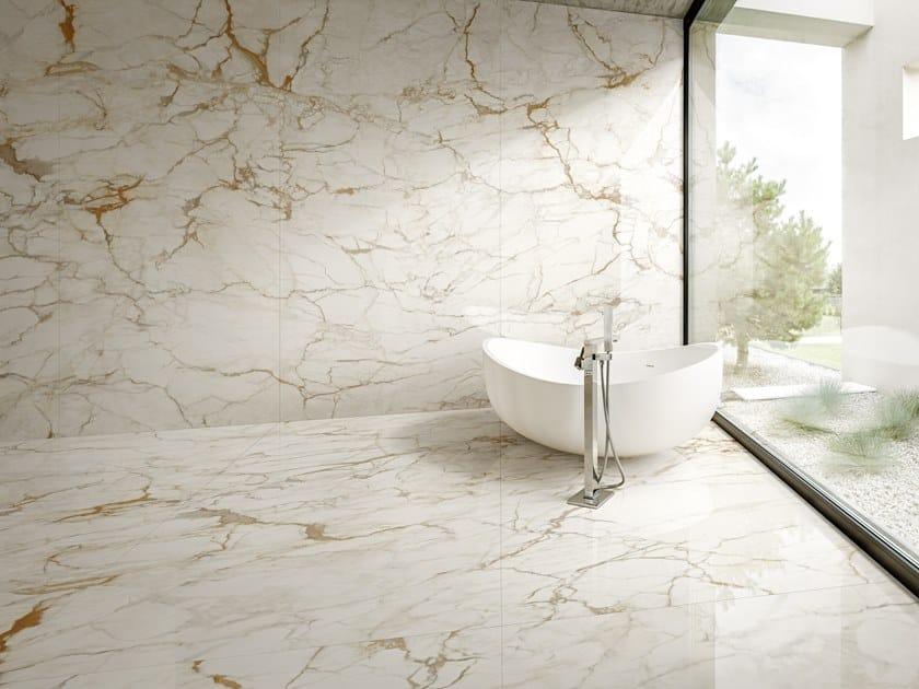 Pavimento/rivestimento in gres porcellanato effetto marmo ULTRA MARMI - CALACATTA MACCHIA VECCHIA by ARIOSTEA
