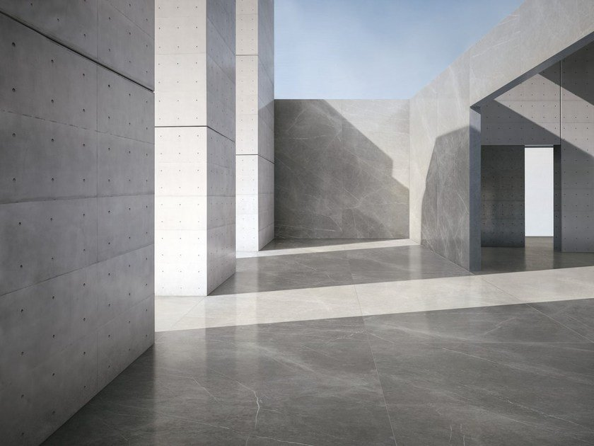 Ultra thin wall/floor tiles with marble effect ULTRA MARMI - GREY MARBLE by ARIOSTEA
