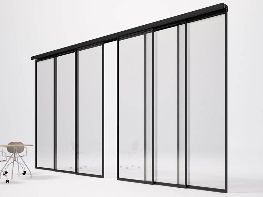 Glass office partition ULTRALIGHT by IOC