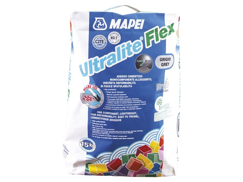 Cement adhesive for flooring ULTRALITE FLEX by MAPEI