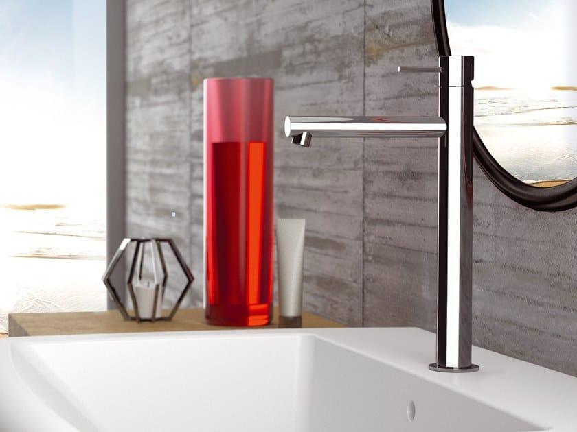 Countertop single handle brass washbasin mixer without waste ULTRAMINIMAL | Countertop washbasin mixer by Rubinetterie Mariani