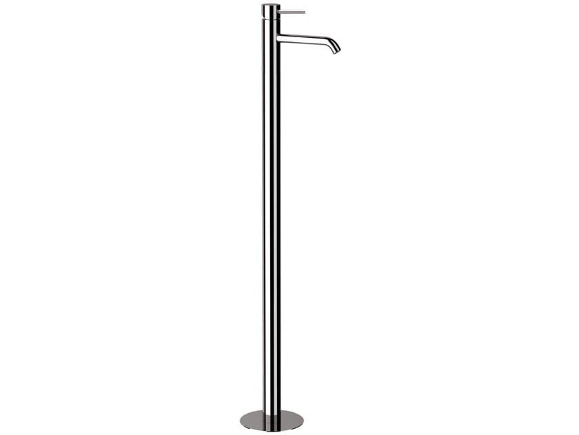 Floor standing single handle brass washbasin mixer without waste ULTRAMINIMAL | Floor standing washbasin mixer by Rubinetterie Mariani