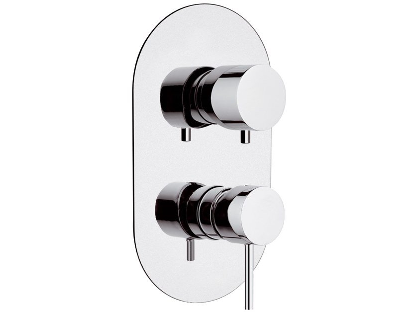 Recessed single handle brass shower mixer with diverter ULTRAMINIMAL | Recessed shower mixer by Rubinetterie Mariani