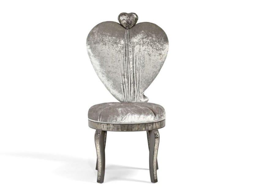 Sedia in velluto UN CUORE GRANDE COSÌ by Sicis