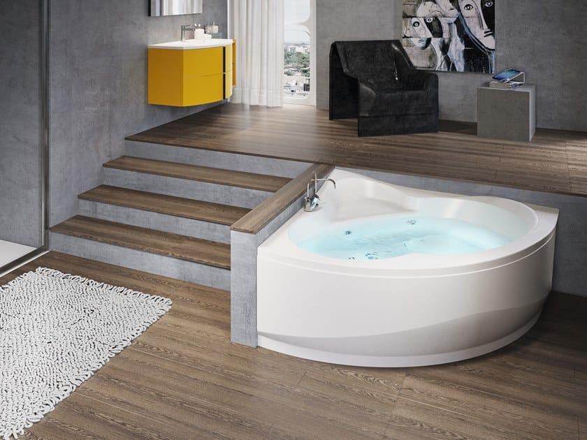 Vasche Da Bagno Angolari Asimmetriche : Vasca da bagno angolare idromassaggio una novellini