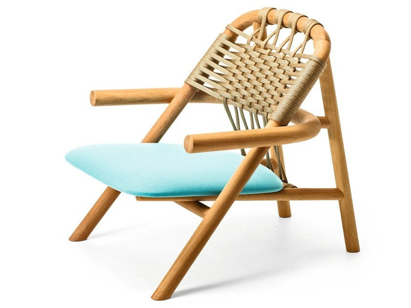 Iroko garden armchair with armrests UNAM OUT 04/C by Very Wood