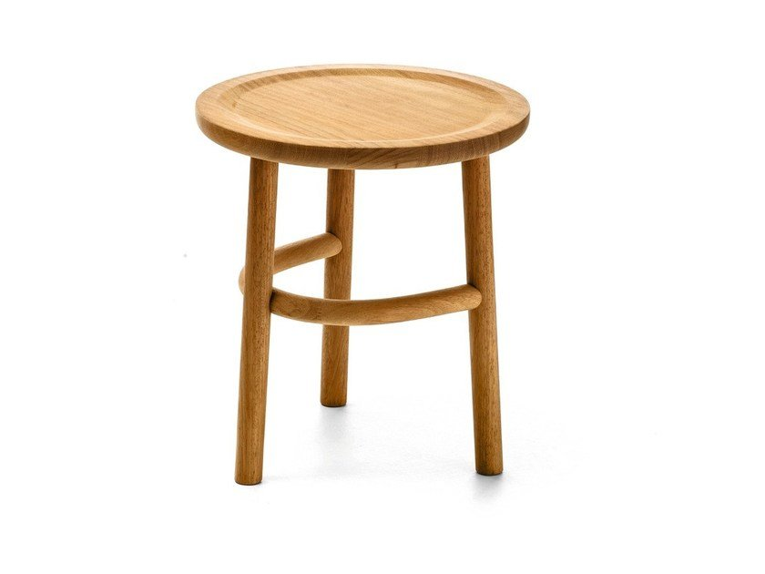 Round iroko garden side table UNAM OUT T02 by Very Wood