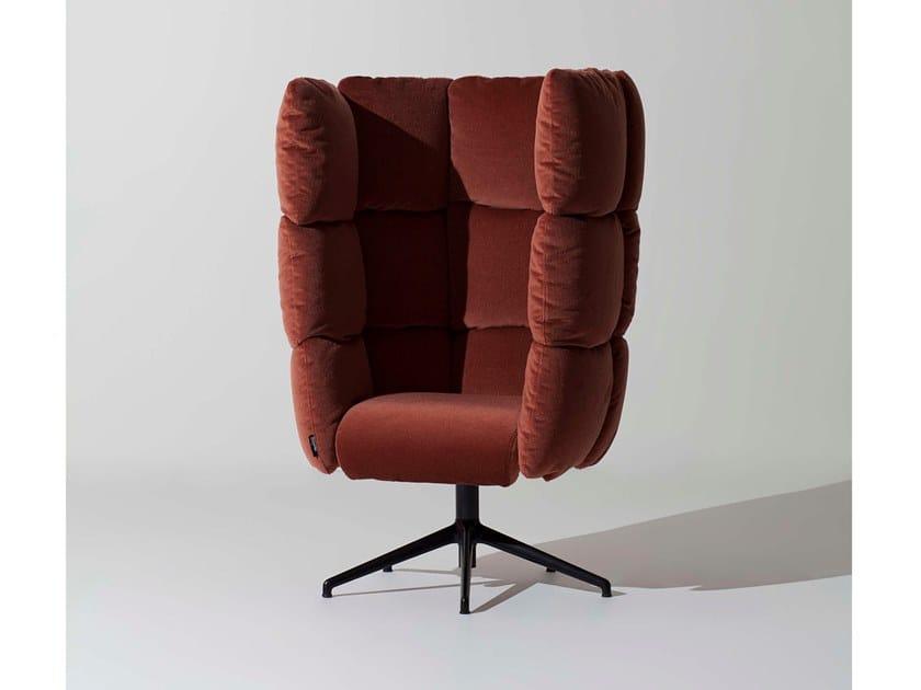 Swivel high-back velvet armchair UNDECIDED | High-back armchair by Manerba