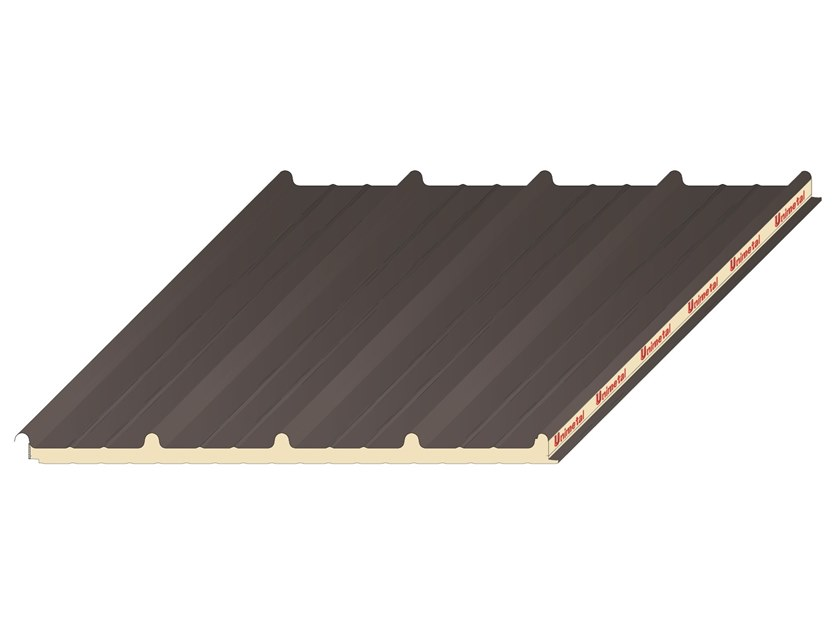 Insulated metal panel for roof UNI 1000 by UNIMETAL