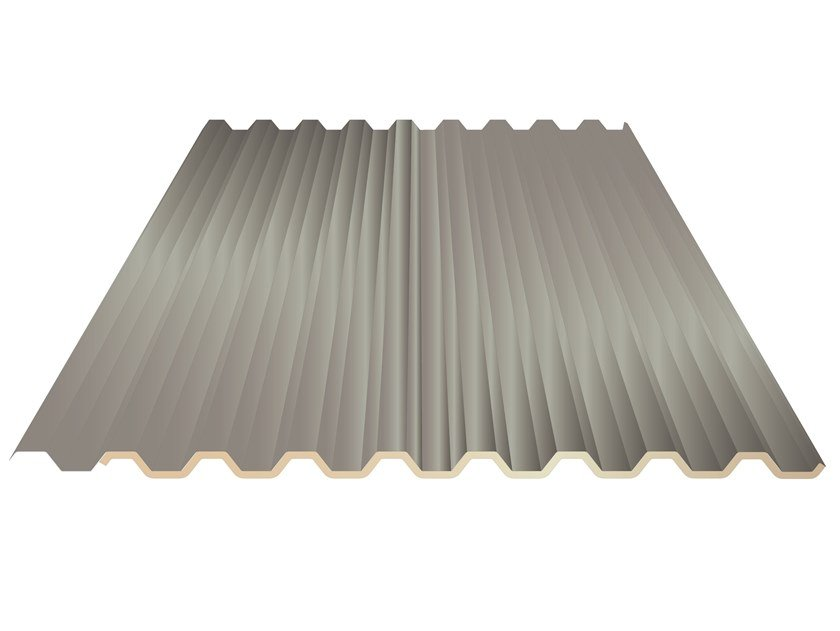 Insulated metal panel for roof UNI 28 by UNIMETAL