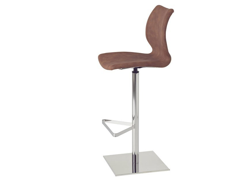 High swivel stool with footrest UNI 380M / UNI 380B-M by Metalmobil