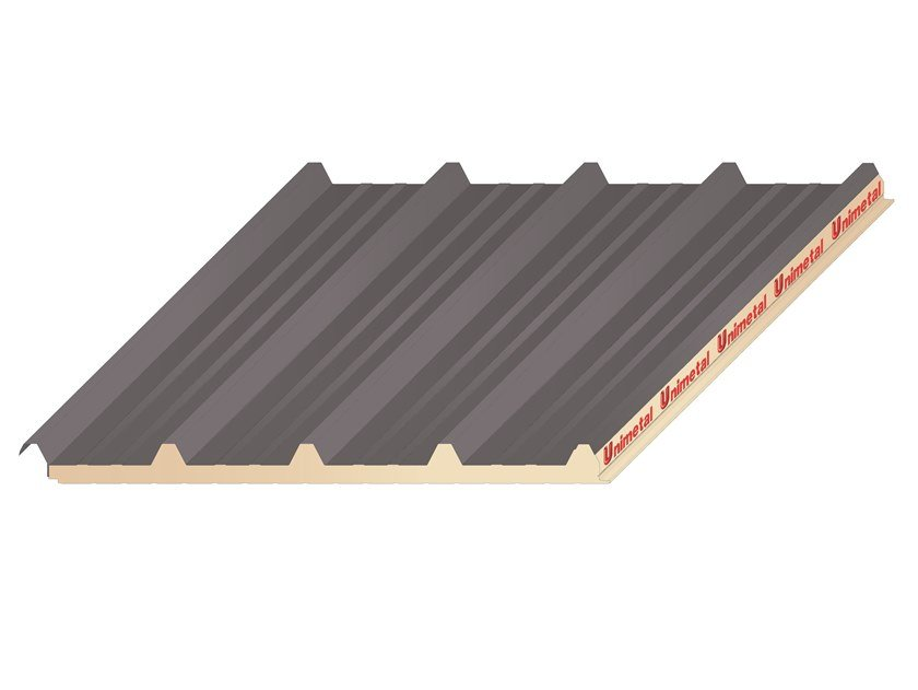 Insulated metal panel for roof UNI 5 by UNIMETAL
