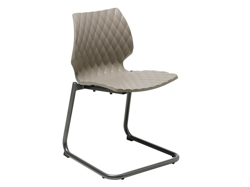 Cantilever polypropylene chair UNI 544 by Metalmobil