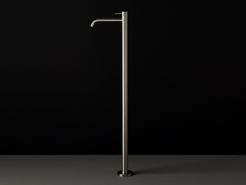Floor standing single handle stainless steel washbasin mixer UNI   Floor standing washbasin mixer by Boffi