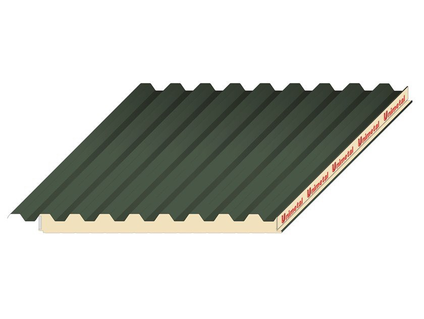 Insulated metal panel for roof UNI Roof 28 by UNIMETAL