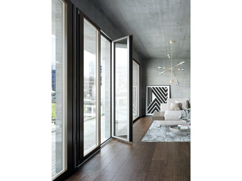 Aluminium and wood patio door UNICA | Aluminium and wood patio door by BG legno