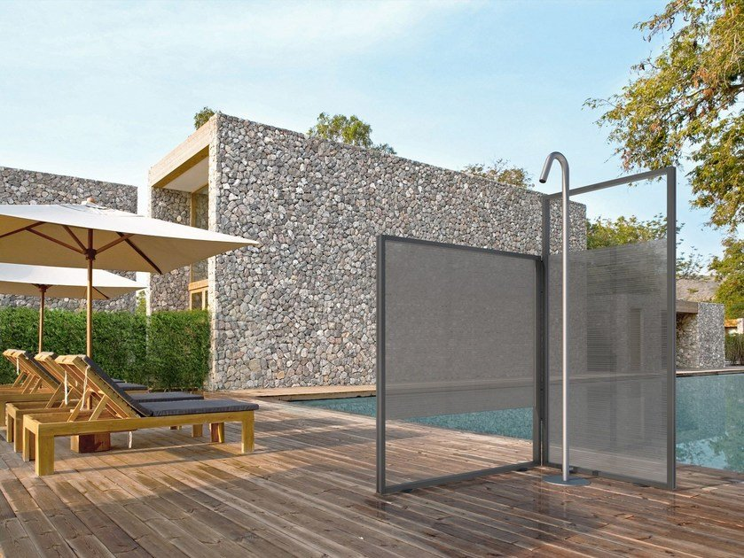 Aluminium outdoor shower UNICA by VISMARAVETRO