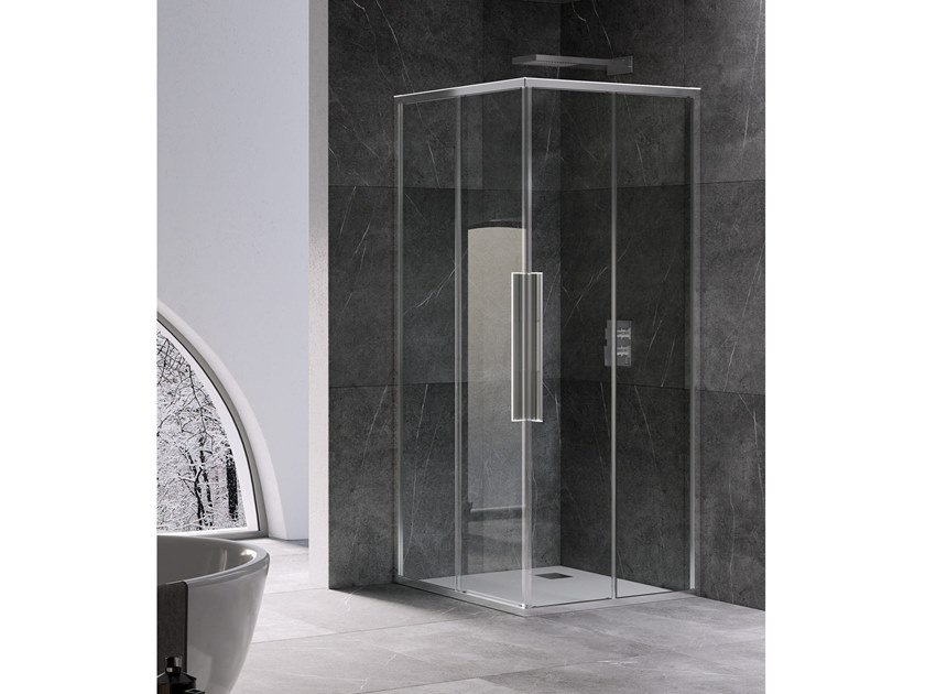 Corner shower cabin with sliding door UNICO A+A by RELAX
