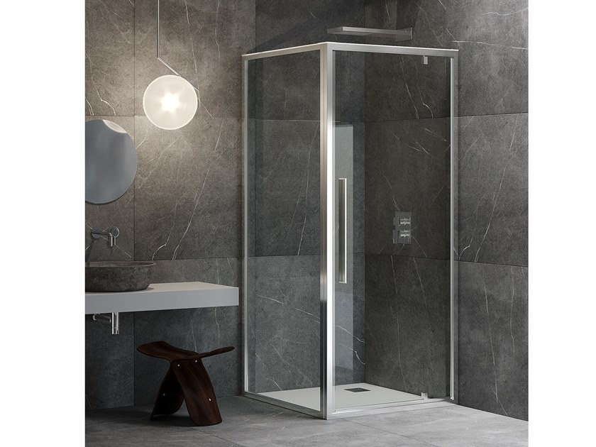 Corner shower cabin with hinged door UNICO B1+F1 Unico Collection By ...