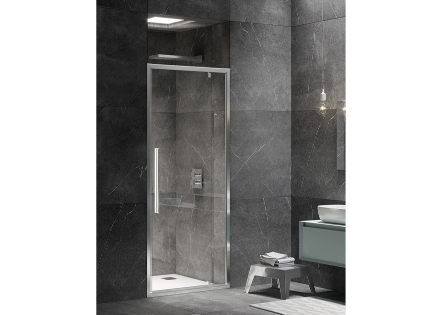 Niche shower cabin with hinged door UNICO B1 by RELAX