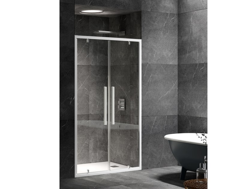 Niche shower cabin with hinged door UNICO B2 by RELAX