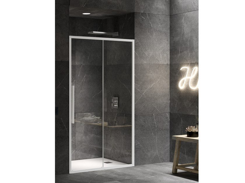 Niche shower cabin with hinged door UNICO SC1 by RELAX