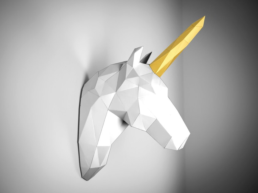 Paper wall decor item UNICORN by Papertrophy