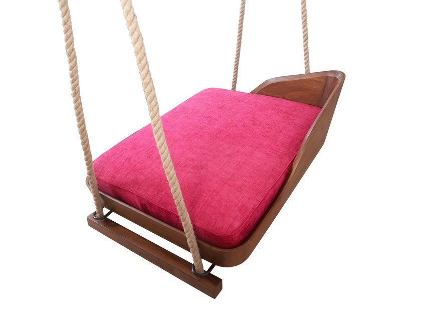 Teak garden hanging chair UNIG by ALANKARAM