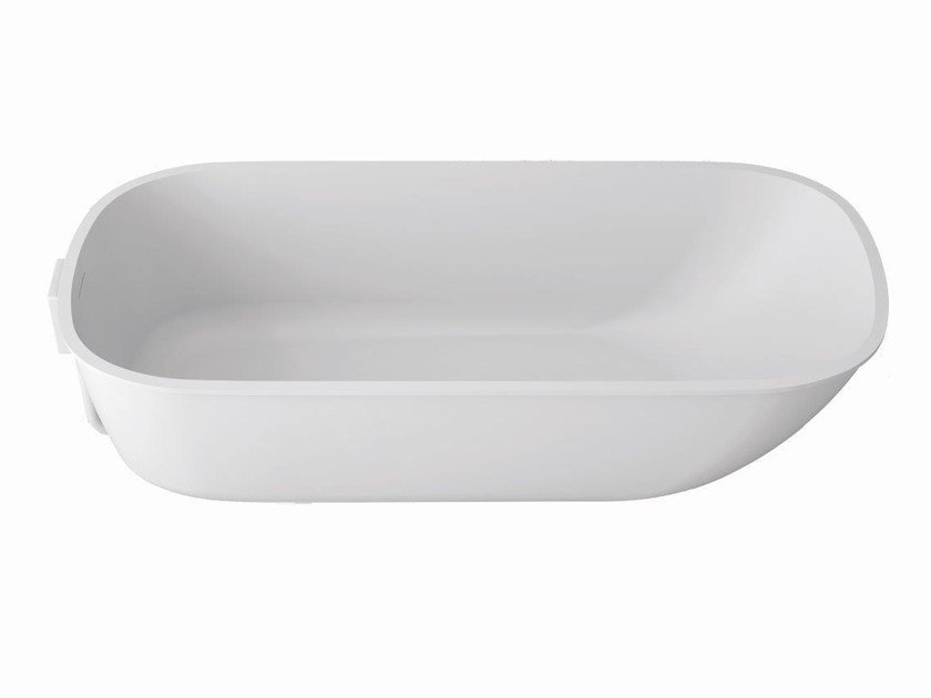 Oval built-in Krion® bathtub UNIQUE | Built-in bathtub by Systempool