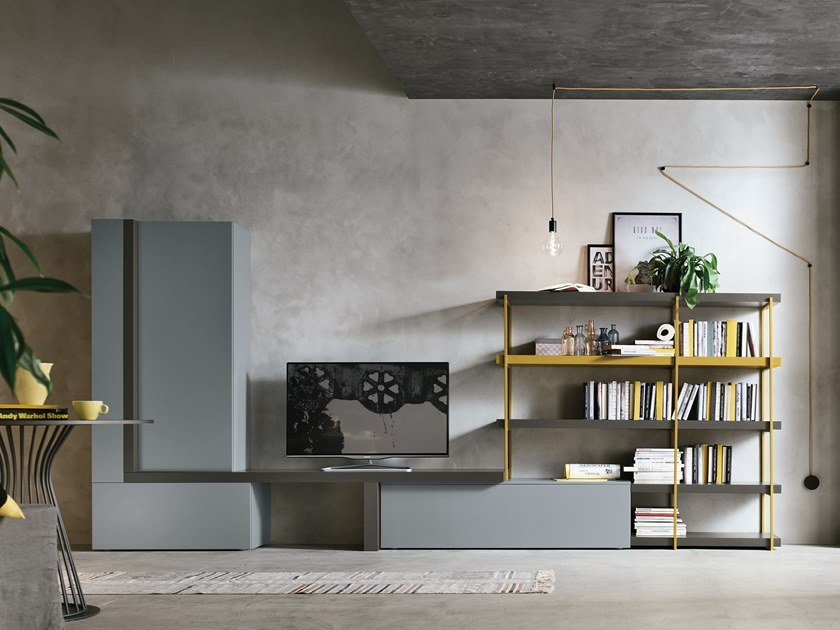 Sectional storage wall UNIT A080 by Gruppo Tomasella