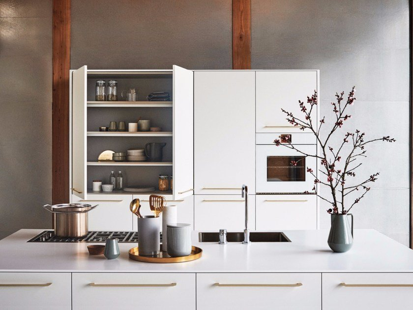Lacquered kitchen with island UNIT - COMPOSITION 2 by Cesar & Lacquered kitchen with island UNIT - COMPOSITION 2 Unit Collection ...