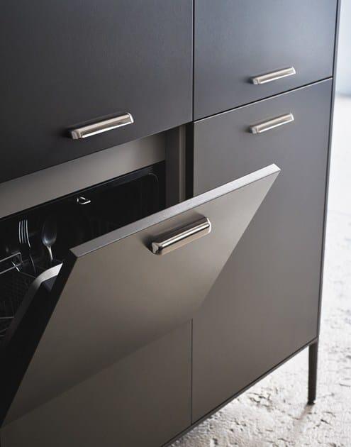 Cucina laccata con isola unit composizione 3 collezione for Cesar arredamenti