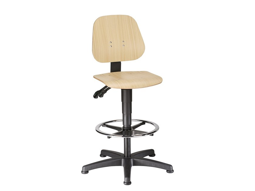 Task chair with 5-Spoke base UNITEC 9651 by bimos