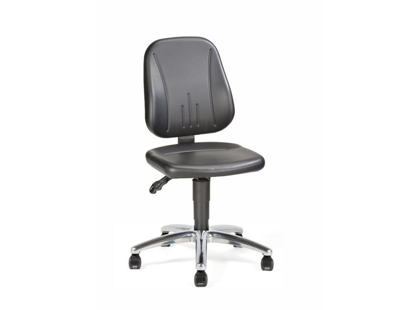 Work chair with 5-Spoke base with casters UNITEC 9653 by bimos
