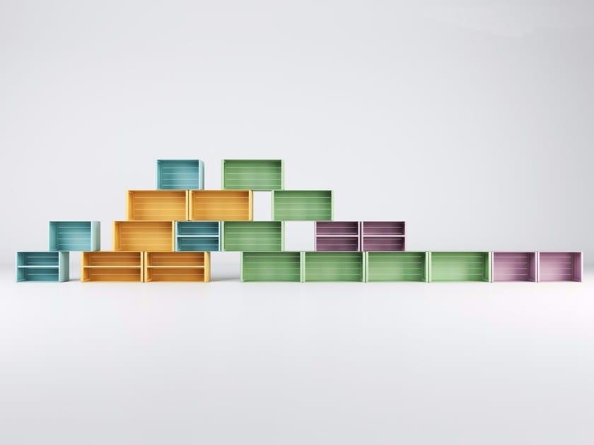 Open sectional aluminium bookcase UNITS by Varaschin