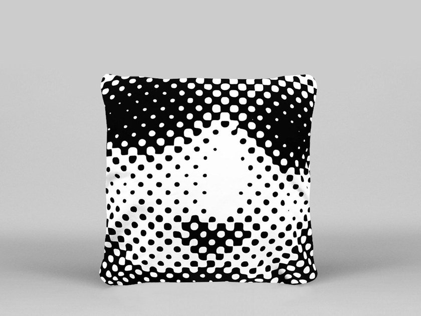 Square cushion with removable cover UNTITLED - ART33 by HENZEL STUDIO