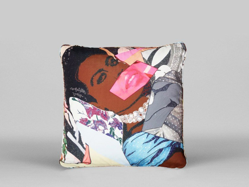 Square cushion with removable cover CLARIVEL CENTERED - ART36 by HENZEL STUDIO