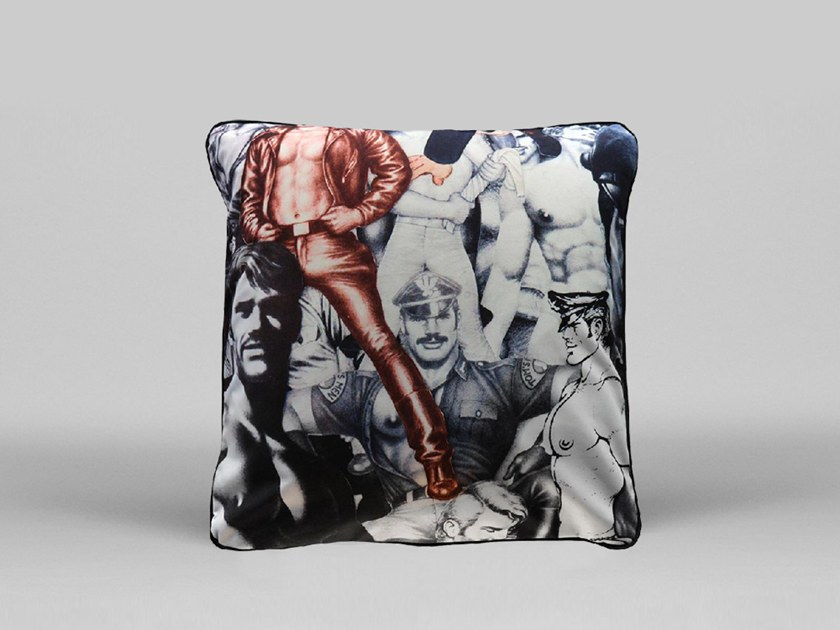 Square cushion with removable cover UNTITLED - ART40 by HENZEL STUDIO