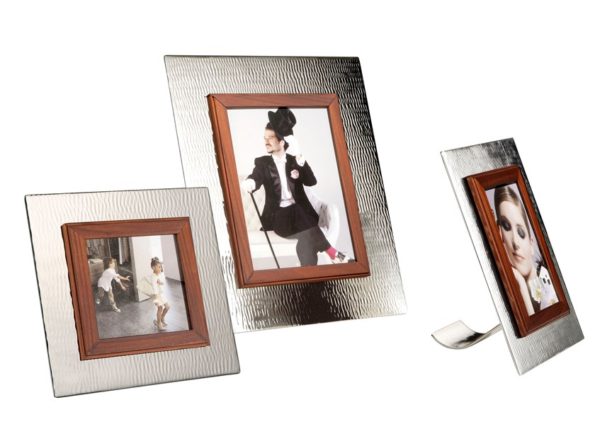 Silver and wood frame UP 1 by ZANETTO
