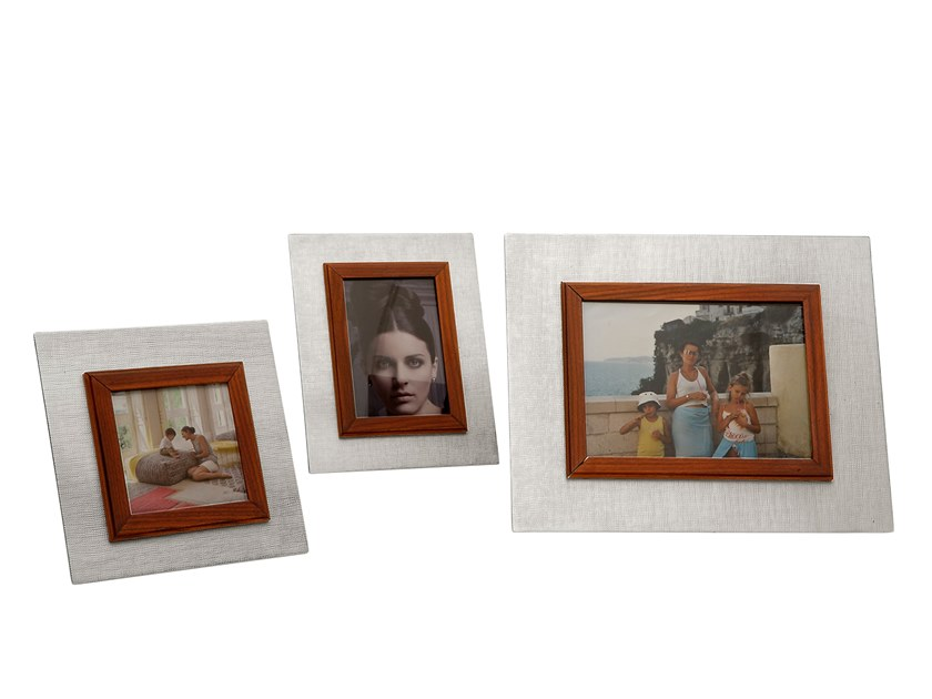 Silver and wood frame UP 2 by ZANETTO