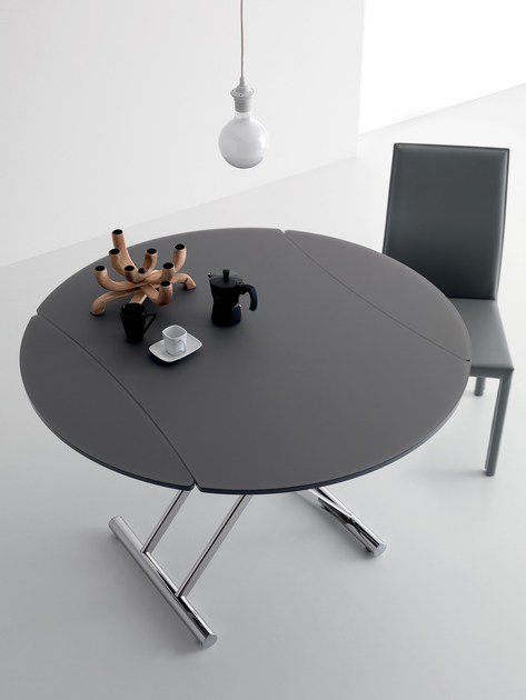 Up And Down Table Basse Reglable En Hauteur By Italy Dream Design