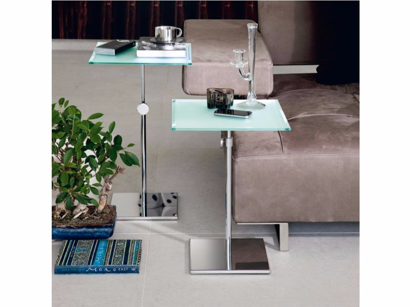 Height-adjustable square coffee table UP by Cattelan Italia