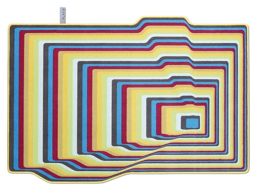 Wool rug UP & DOWN 002 by FLAT'N